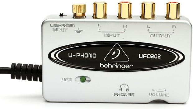behringer u phono ufo202 usb audio interface with phono reverb. Black Bedroom Furniture Sets. Home Design Ideas