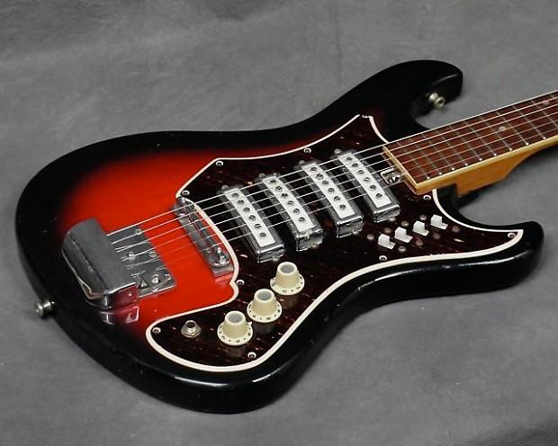 1960s Bruno Conqueror Teisco Electric Guitar Japan 4 Reverb