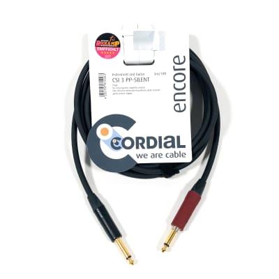 "Cordial 3m /~10ft Premium High-Copper German Instrument Cable, 1/4"" Neutrik Silent, CSI 3 PP-SILENT"