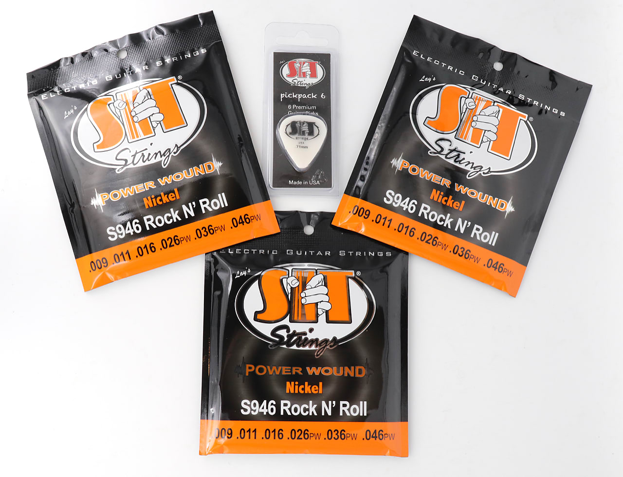 SIT S946 Power Wound Nickel Electric Guitar Strings - (9-46) 3 Pack