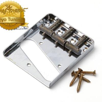 Aged Tele Bridge Chrome CRYO TUNED Montreux Retrovibe fits to Tele  ® for sale