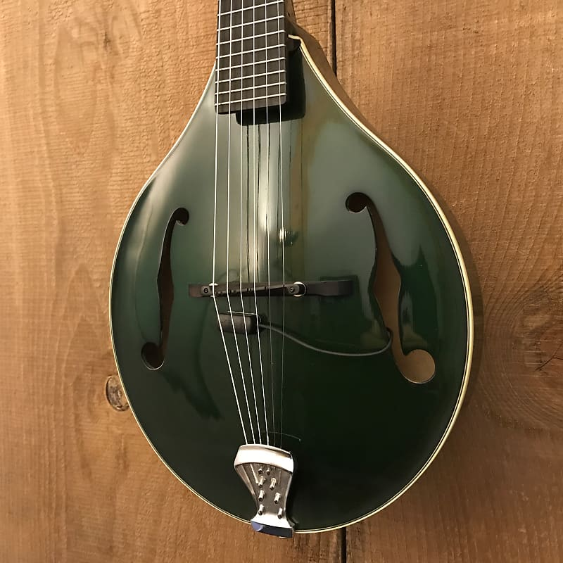 Gibson Master Model M-6 A-Style 6-String Octave Guitar Mandolin Trans Green