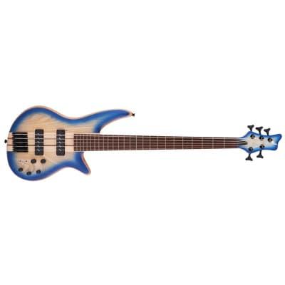 Jackson Pro Series Spectra Bass SBA V, Blue Burst for sale