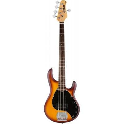 Sterling by Music Man Sub Ray5 HBS Bass, Honey Burst Satin Bass Guitar