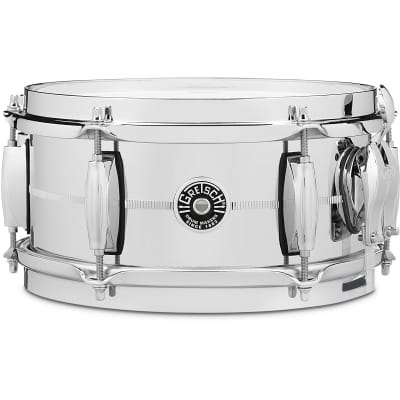 "Gretsch GB4161S Brooklyn Chrome Over Steel 5x10"" 6-Lug Snare Drum"