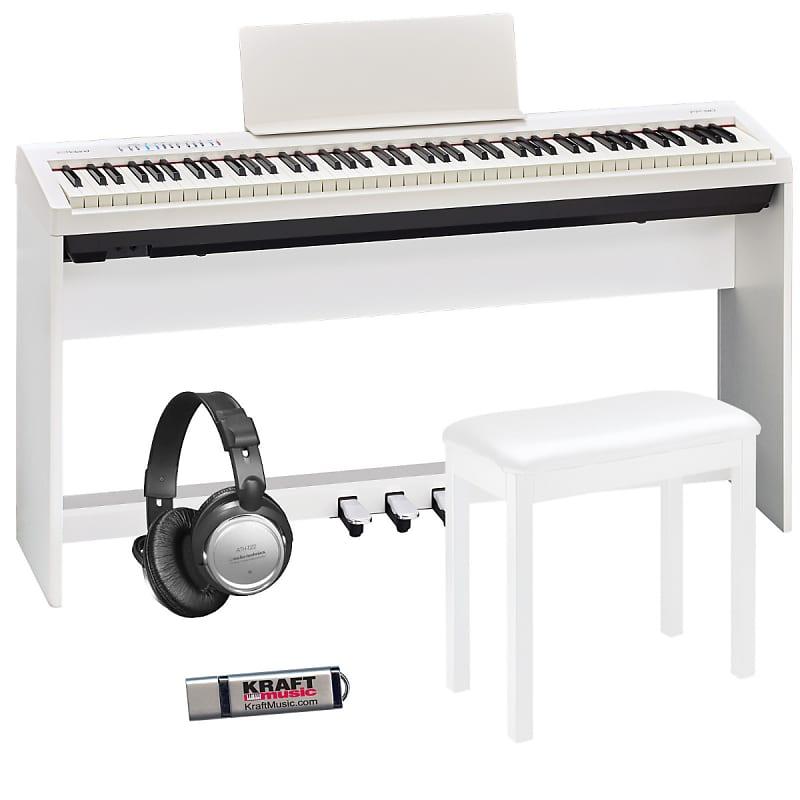 roland fp 30 digital piano white complete home bundle reverb. Black Bedroom Furniture Sets. Home Design Ideas