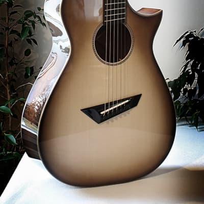 Loef guitar, OM, 13 Fret Fanfret 2015 burst for sale