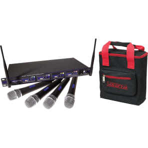 VocoPro UHF-5800-4PLUS 4-Mic Wireless System with Bag - Band 4