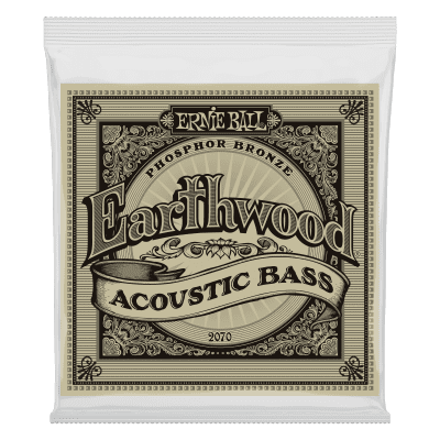 Ernie Ball 2070 Earthwood Acoustic Bass Strings, .045 - .095