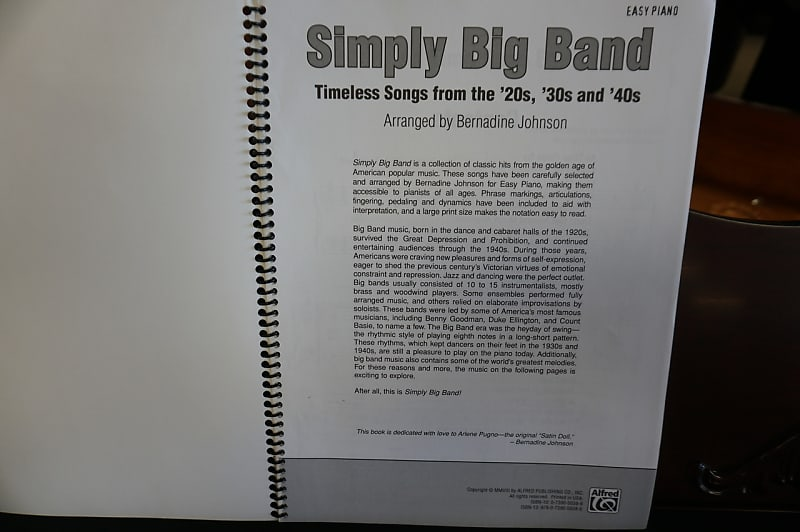 Simply Big Band Timeless Songs from the '20s, '30s, and '40s Easy Piano