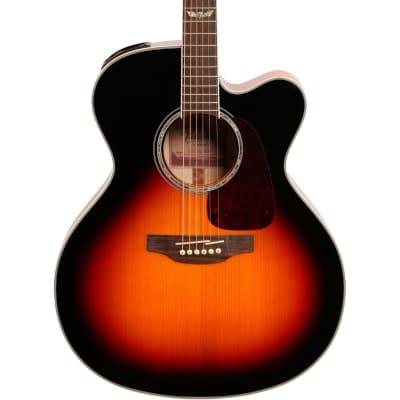 Takamine GJ72CE G70 Series Jumbo Body Acoustic-Electric Guitar, Brown Sunburst