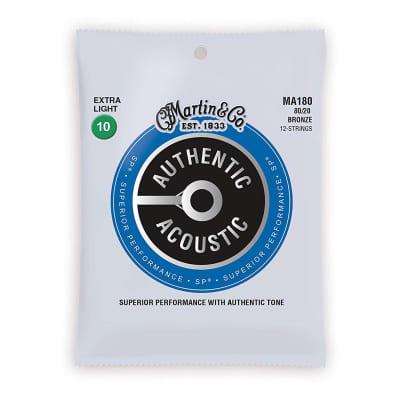 Martin Acoustic Strings 80/20 Bronze - Ex. Light 10-14-23-30-39-47 (12 Strings)
