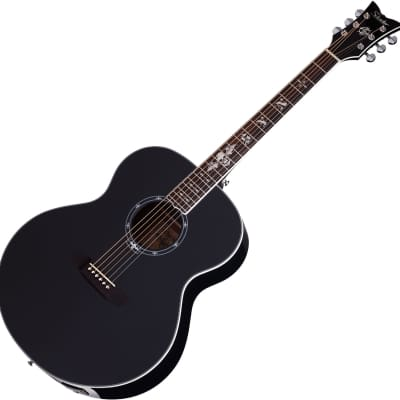 Schecter Signature Synyster Gates SYN J Acoustic Electric Guitar in Gloss Black Finish for sale