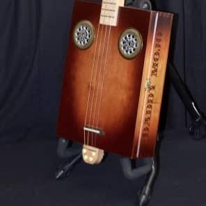 Daddy Mojo 4-String Standard Sunburst Cigar Box Guitar for sale