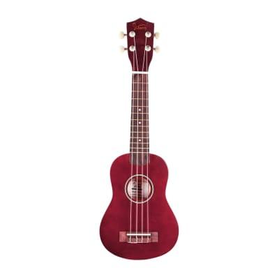 Glarry UK101 21inch Soprano Rosewood Fingerboard Basswood Ukulele Red for sale