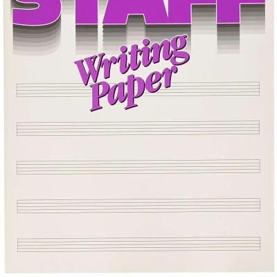 MANUSCRIPT STAFF WRITING PAPER