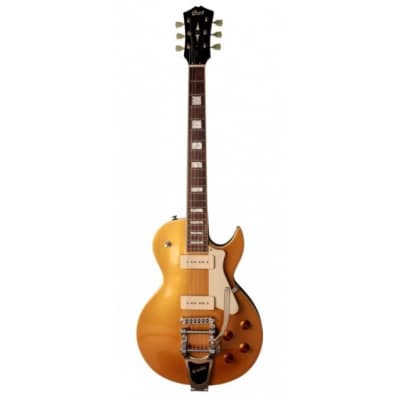 Cort CR200BVGT Goldtop with Bigsby for sale