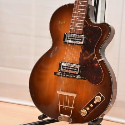 Höfner Clubs 50 + Case – 1962 German Vintage Semi Hollow Guitar / Gitarre