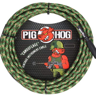 "Lifetime Warranty! Pig Hog PCH20CF Camouflage 1/4"" / 1/4"" Instrument Cable - 20'"