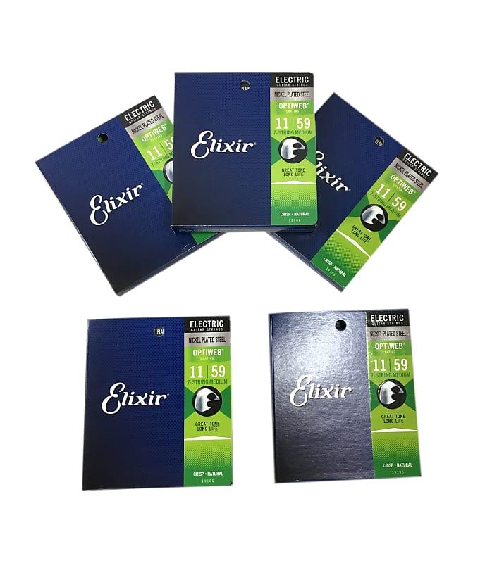 elixir guitar strings 5 pack optiweb 7 string electric light reverb. Black Bedroom Furniture Sets. Home Design Ideas