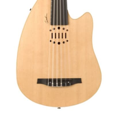 Godin MultiOud Ambiance Nylon String - Natural Oud with Hard Shell Case