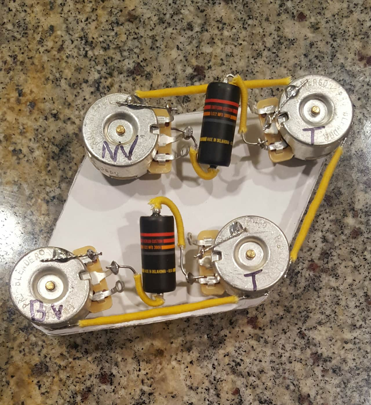 vintage style les paul wiring harness w emerson pro reverb. Black Bedroom Furniture Sets. Home Design Ideas