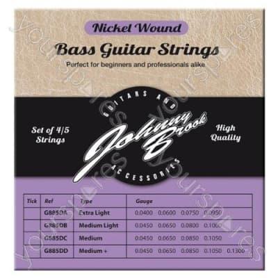 JOHNNY BROOK Set of 4 High Quality Nickel Wound Bass Guitar Strings (Medium Gauge) for sale