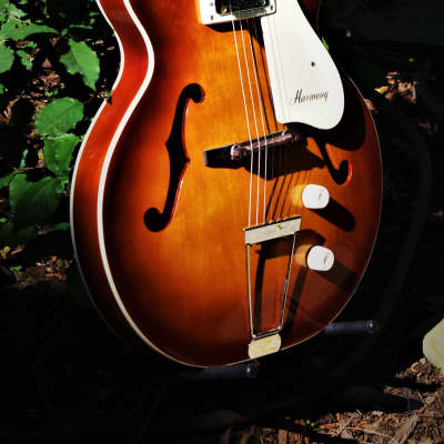 Harmony H53 1968 Sunburst.  Rocket Guitar.  Beautiful Catalog Guitar. Totally Restored.