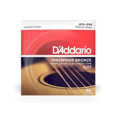 D'Addario EJ17 Medium Gauge Phosphor Bronze Strings 13-56