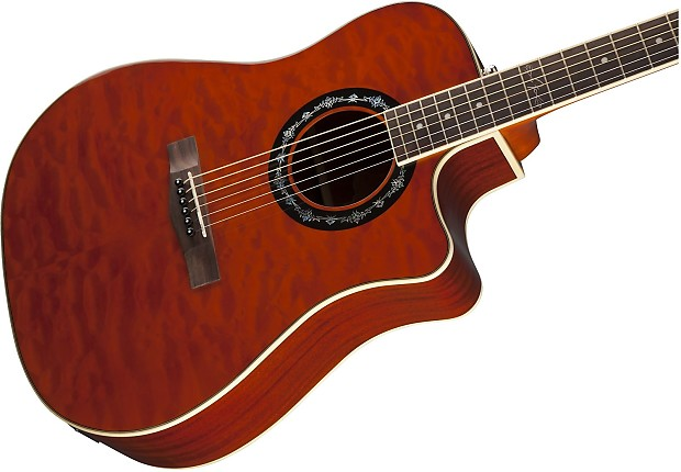 Fender T-Bucket 300CE Quilted Maple/Mahogany Cutaway   Reverb : quilted maple acoustic guitar - Adamdwight.com