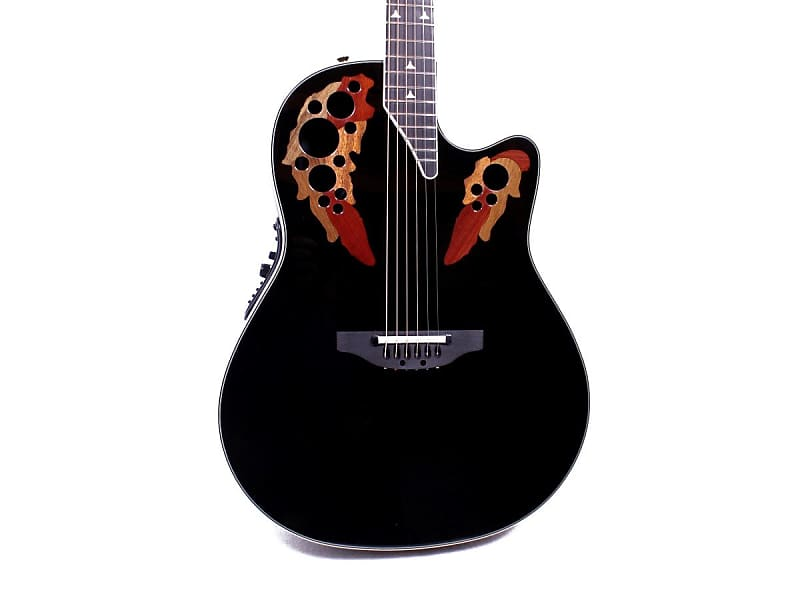 Ovation Custom Elite C2078 AX-5 Deep Black Contour Acoustic-Electric Guitar w/ Case image