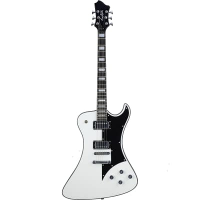 Hagstrom Fantomen Electric Guitar All Mahogany Resinator Fingerboard White Gloss