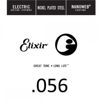 Elixir Single .056 Nanoweb Nickel Wound String