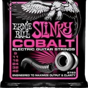 6-Pack Ernie Ball 2723 Cobalt Super Slinky Electric Guitar Strings (9-42)