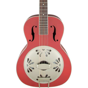 Gretsch G9241 Alligator Biscuit Round-Neck Resonator Chieftain Red