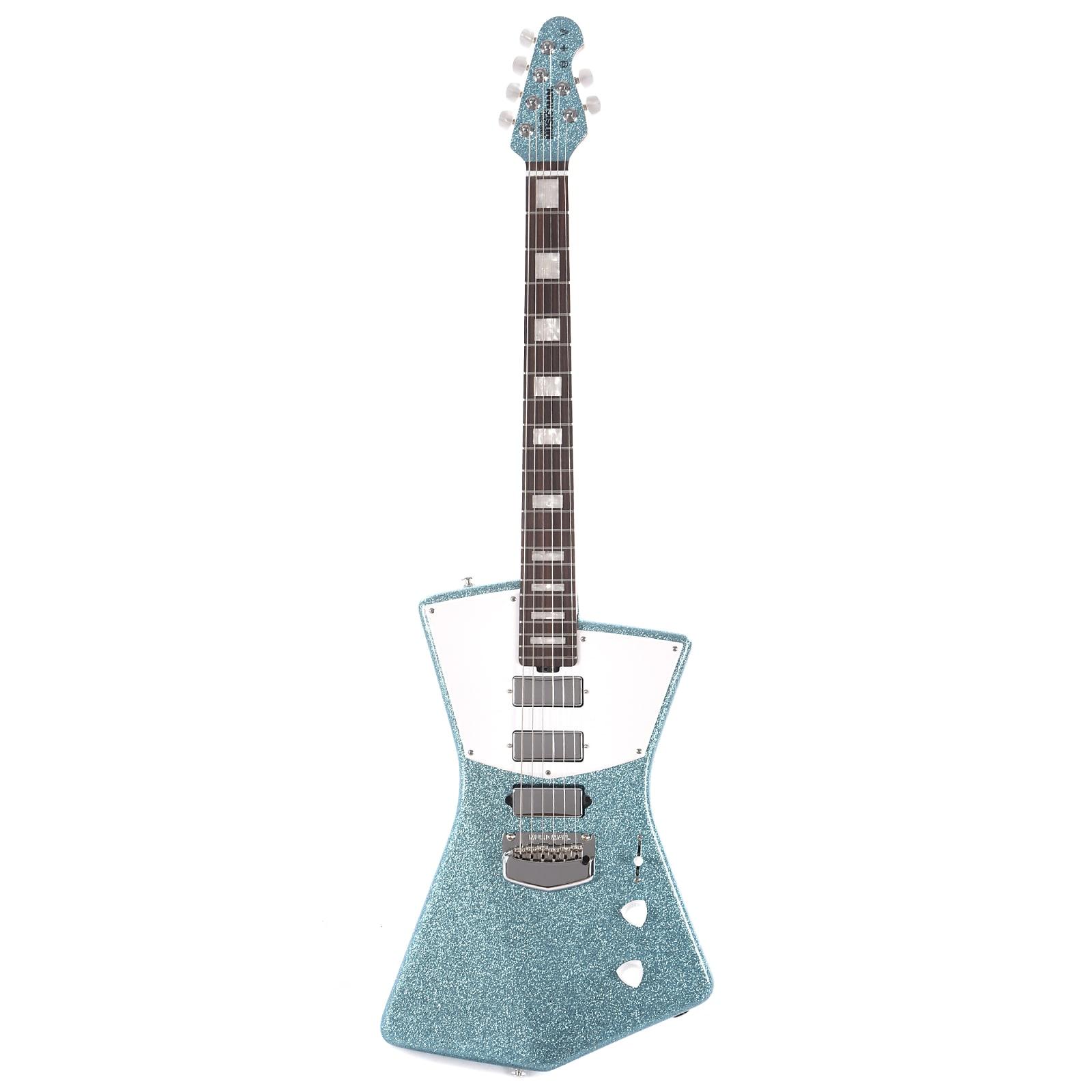 Music Man BFR St Vincent HHH Turquoise Crush w/White Pickguard