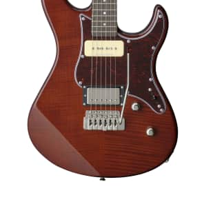 Yamaha PAC611VFM-RB Pacifica Series H/P-90 Electric Guitar Root Beer w/ Rosewood Fretboard