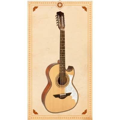H. Jimenez LBQ2E El Músico Acoustic Electric Bajo Quinto, Spruce Top