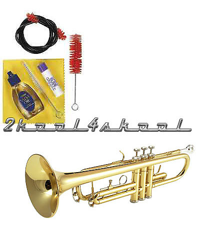 Gold Bb TRUMPET +case+WARRANTY+YAMAHA Care kit