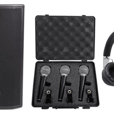 "7c2438a4db6 JBL Pro PRX835XW 15"" 3-Way 1500w Active Speaker+Audio Technica Headphones+"