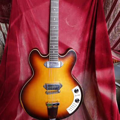 Epiphone Circa 1966 Al Caiola Modified Custom Hollow Body Guitar 1966 Royal Tan for sale