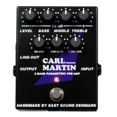 Carl Martin 3 Band Parametric Pre-Amp for sale