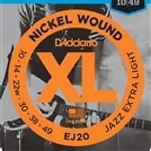 D'Addario EJ20  Jazz Electric Guitar Strings Extra Light - 3 Pack