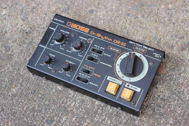 1980 39 s boss dr 55 dr rhythm vintage drum machine reverb. Black Bedroom Furniture Sets. Home Design Ideas