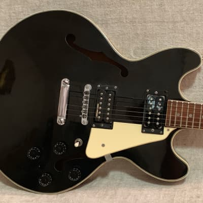 Vintage  1970's-1980's Memphis Hollowbody Electric Black Upgraded Gibson Dirty Fingers & Duncan USA Pickups for sale
