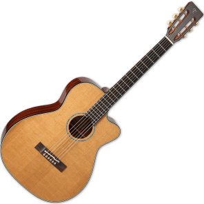 Takamine EF740FS TT Thermal Top Series OM Cutaway Acoustic/Electric Guitar Natural Gloss