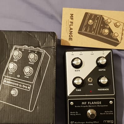 Moog Minifooger MF Flange Pedal - With Box And Manual for sale
