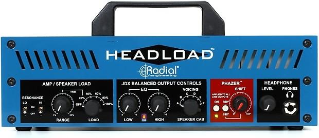 radial headload v8 speaker load box with cab simulator reverb. Black Bedroom Furniture Sets. Home Design Ideas