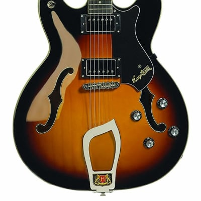 Hagstrom VIK-TSB Viking Semi-Hollow Electric Guitar - TOBACCO SUNBURST
