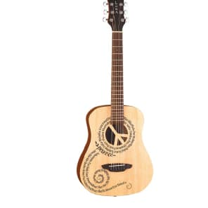 Luna Safari Peace Travel Guitar w/GigBag for sale